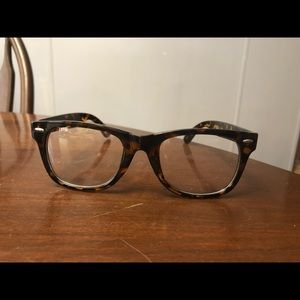 Accessories - Tortoiseshell Fashion Glasses Clear Lens